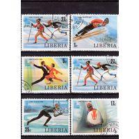 Либерия. Зимние Олимпийские игры. Лейк-Плесид.1980.