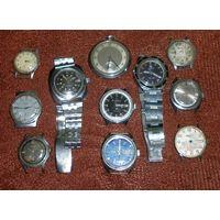 Часы нерабочие одним лотом (11шт)
