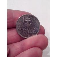 5 крон 1993 год. Словакия.