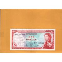 Карибы 1 доллар 1965г.