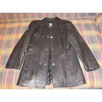 Импортная кожаная женская куртка-пиджак