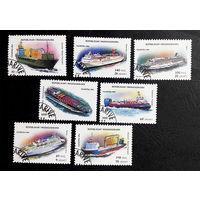 Мадагаскар 1994 г. Корабли. Флот. Транспорт, полная серия из 7 марок #0028-Т1P6