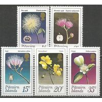 Питкэрн. Цветы местных деревьев и кустарников. 1973г. Mi#130-34. Серия.
