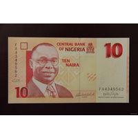 Нигерия 10 найра 2008 UNC