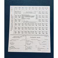 Продуктовая карточка СССР Е-7  1983 год 4 категория служащие, выпускалась на особые случаи в стране