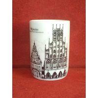 Сувенирная фарфоровая стопка стаканчик Uhlenhorst Munster Германия клеймо