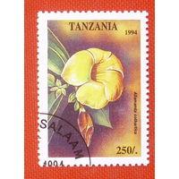 Танзания.  Цветы ( 1 марка ) 1994 года.