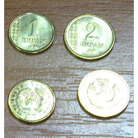 Таджикистан. 1+2 дирама 2011 г. UNC