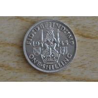 Великобритания 1 шиллинг 1945S(серебро)