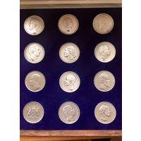 Талер Германия официальные реплики из немецких банков- серебро чистое- 1000  проба , сертификат