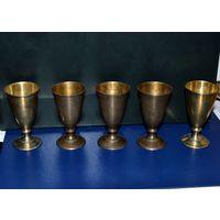 Стопки Рюмки Серебро 916 проба... вес-167грамм (5 штук одним лотом)