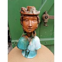 Статуэтка - Подсвечник из керамики