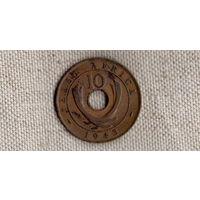 Восточная Африка 10 центов 1943 //(Sx)