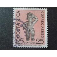 Коста-Рико 1963 археология, доколумбовое искусство