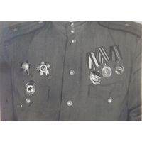 Гвардии майор с наградами