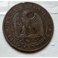 Франция 5 сантимов, 1856 W - Лилль 2-6-14