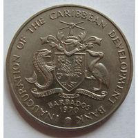 О.Барбадос 4 доллара 1970 г