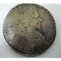 1 РУБЛЬ 1728 ПЕТР II РОССИЯ ПЕТРУНИН G-58 ЧЕРТА