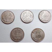 Нидерланды 25 центов, 1941 6-4-31*35