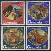 1969 Гренада 332-335 Художник / Тициан - надпечатка