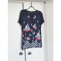 В подарок к купленной одежде К 8 марта качественная одежда . Блузка Вискоза Р-р 48
