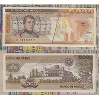 Распродажа коллекции. Мексика. 5 000 песо 1989 года (P-88c.7 - 1985-1991 Issue)