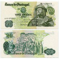 Португалия. 20 эскудо (образца 1971 года, P173, подпись 7, aUNC)