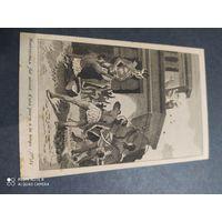 Старинная гравюра Франция 19в. Миниатюра.