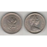 Родезия _km1 6 пенсов (5 центов) 1964 год (f04)