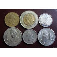 Уругвай. 6 монет 1960-2000 г.