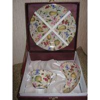 Волшебный чешский фарфоровый подарочный набор - сувенир в подарочной коробочке!