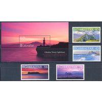 Гибралтар 2007 Горы. Маяки, 4 марки + блок