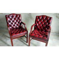 Английские кожаные кресла Gainsborough Chesterfield