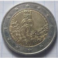 Эстония 2 евро, 2019 150 лет первому Эстонскому празднику песни         ( 6-6-5 )