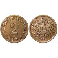 YS: Германия, Рейх, 2 пфеннига 1906A, KM# 16