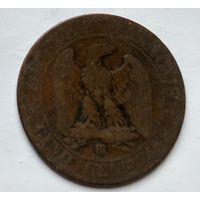 Франция 5 сантимов, 1861 BB - Страсбург 2-6-16