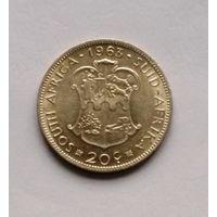 Южная Африка  20 центов  1963 г. Jan van Riebeeck