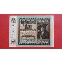 5000 Марок -1922- ГЕРМАНИЯ - III Рейх -b-