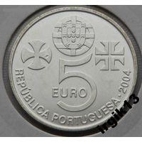 Португалия 5 евро 2004 года  ЮНЕСКО, монастырь Ag