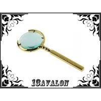 Лупа металлическая, с 6 х увеличением, линза 60 мм, made in Russia, цвет золото, увеличительное стекло
