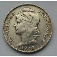 Португалия, 50 Сентавос 1916, Серебро (А)