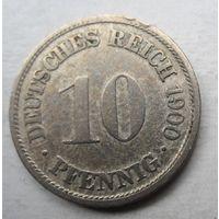 Германия. 10 пфеннигов 1900 F 64