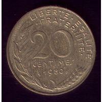 20 сантимов 1980 год Франция