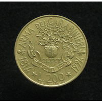 Италия 200 лир 1994 180 лет карабинерам