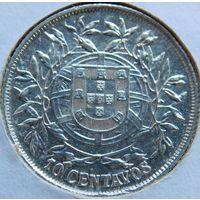6. Португалия 10 сантимов 1915 год, серебро