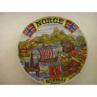 Тарелка сувенирная . Сувенир . Норвегия