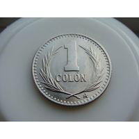 Сальвадор. 1 колон 1985 год KM#153 AU-XF