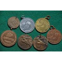 Медали спортивные 7 шт