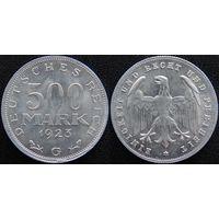 YS: Германия, Веймарская республика, 500 марок 1923G, KM# 36 (2)