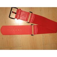 Красный ремень - резинка Италия